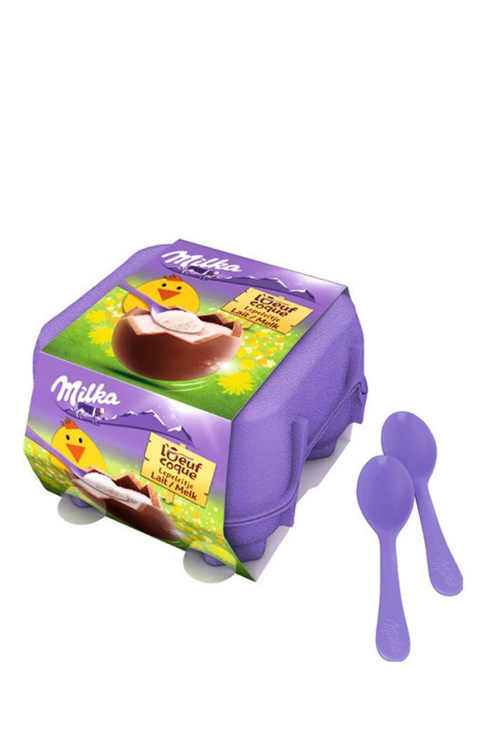 Milka 2 boites oeufs coque chocolat lait