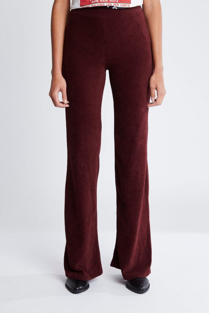 Pull & Bear pantalon wide legs en velours