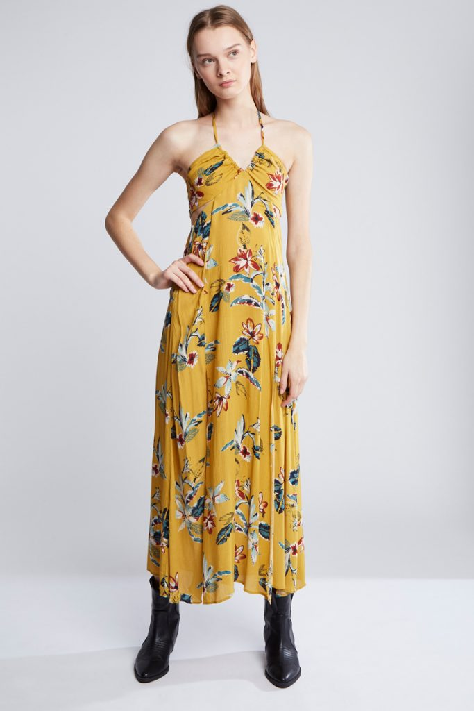 Pull & Bear robe longue fleurie