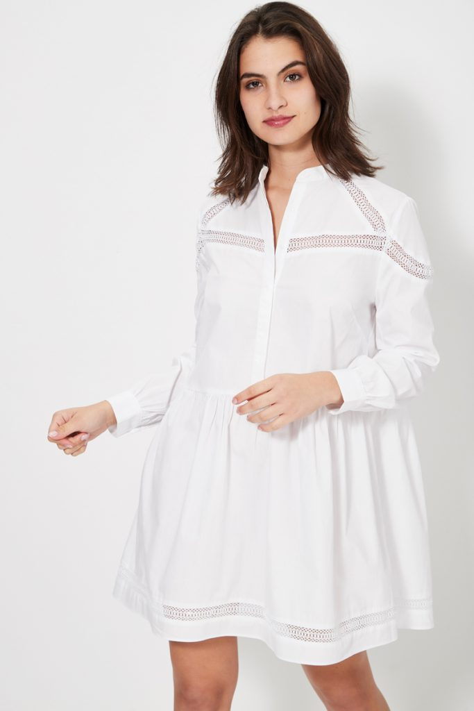 collectionIRL robe chemise ajourée