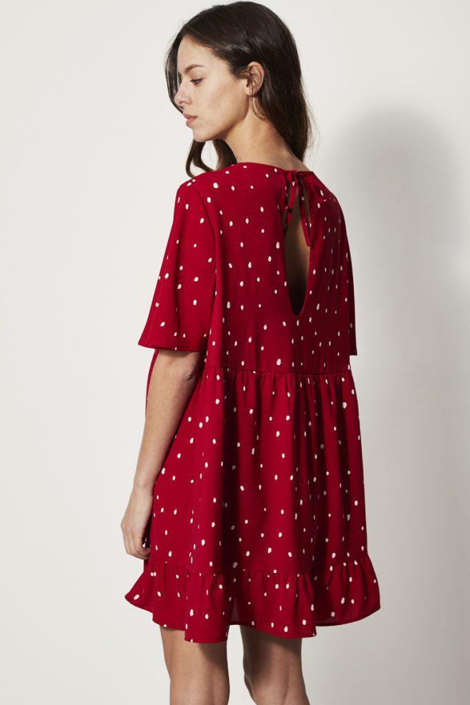 collectionIRL robe courte dos ouvert