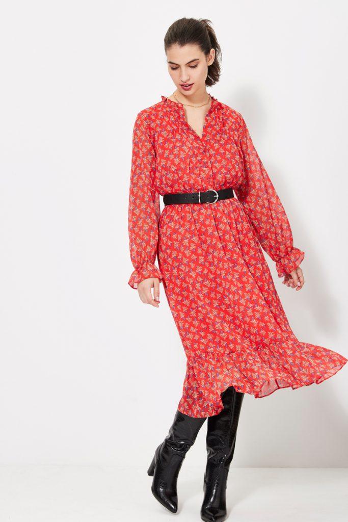 collectionIRL robe longue volantée