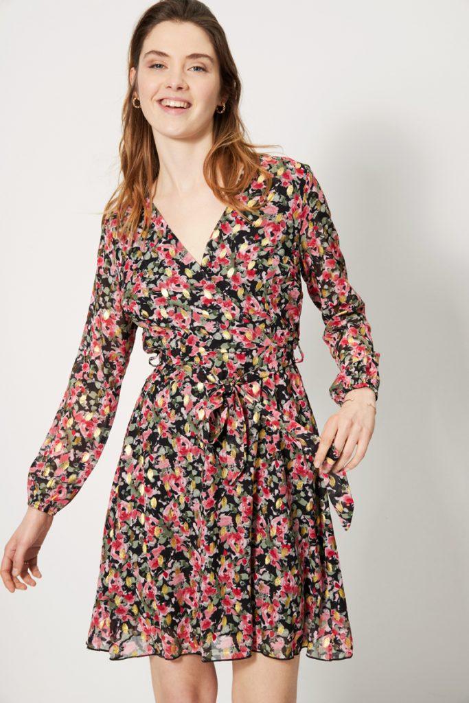 collectionIRL robe volantée fleurie