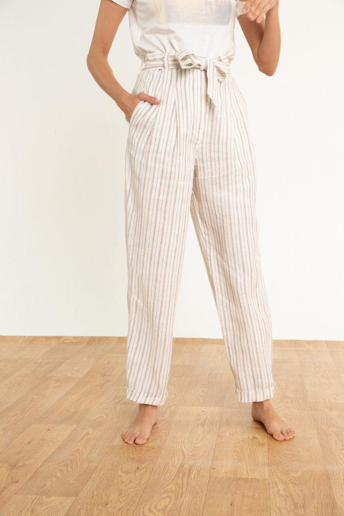Caroll pantalon ample en lin