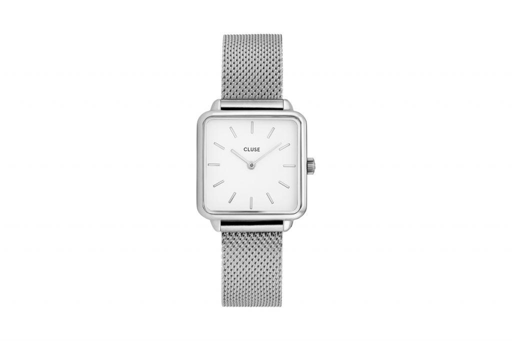 Cluse montre à quartz en acier
