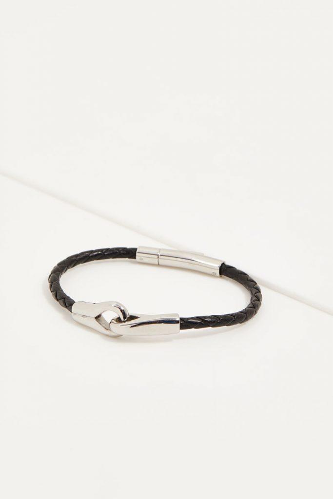 collectionIRL bracelet en cuir et acier