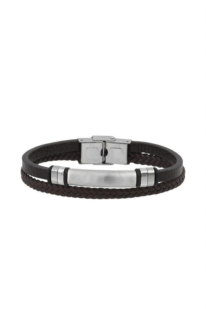 collectionIRL bracelet double rang en cuir