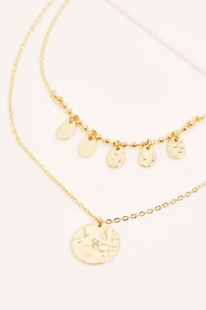 collectionIRL collier martelé doré à l'or fin