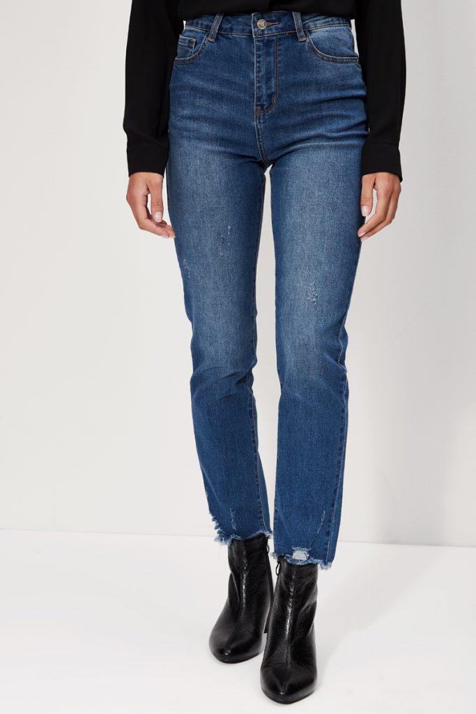 collectionIRL jean droit effiloché