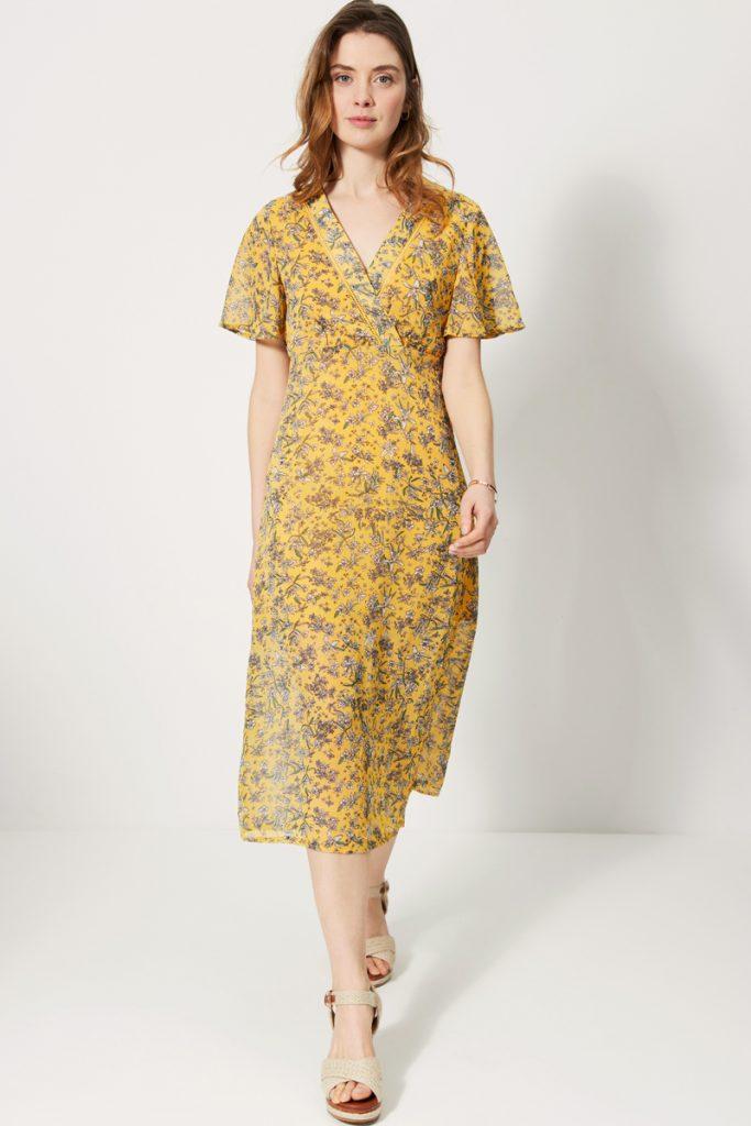 collectionIRL robe midi fleurie