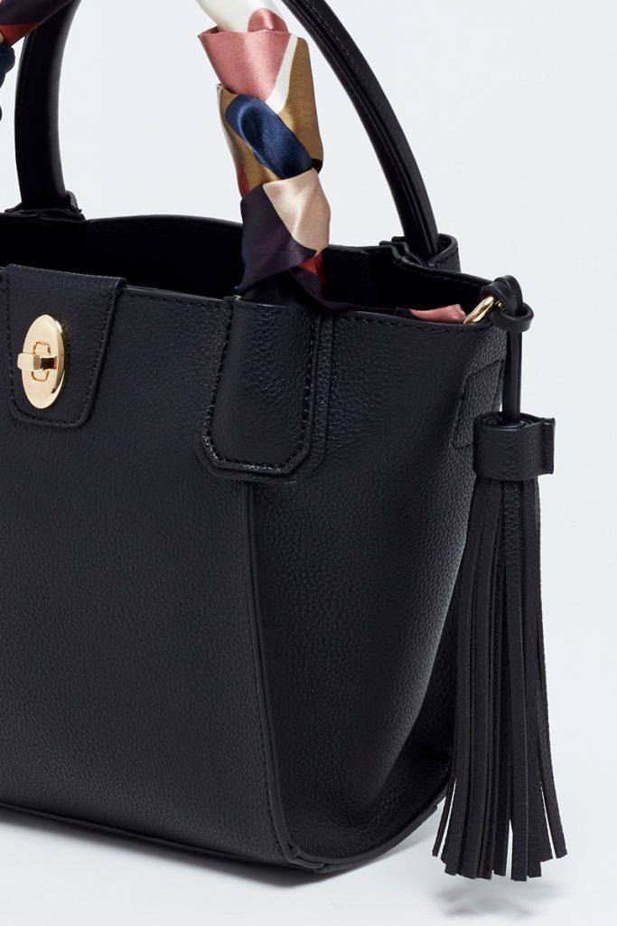 collectionIRL sac à main trapèze foulard