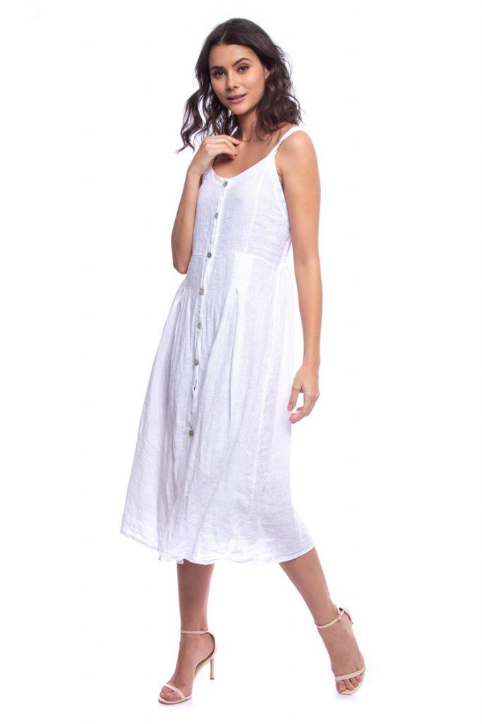 Lin Passion robe évasée en lin