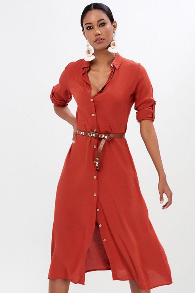 Milan Kiss robe chemise