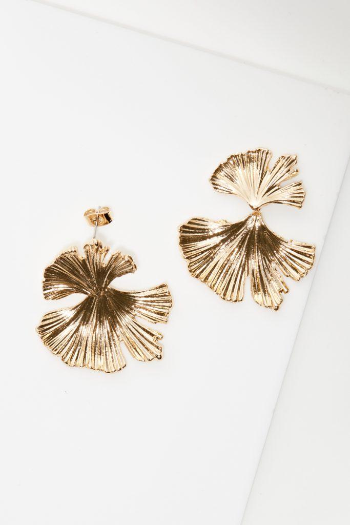 collectionIRL boucle d'oreilles fleurs dorées or fin jaune