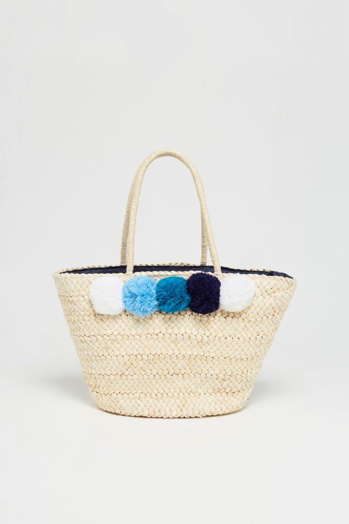 collectionIRL sac panier osier pompons