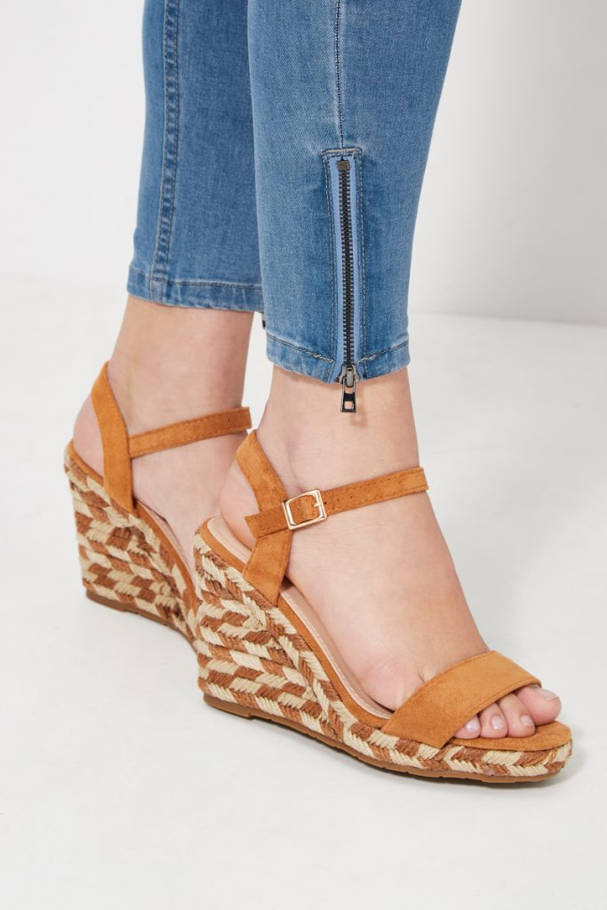 collectionIRL sandales compensées fantaisie