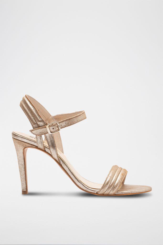 Elodie sandales à talons en cuir
