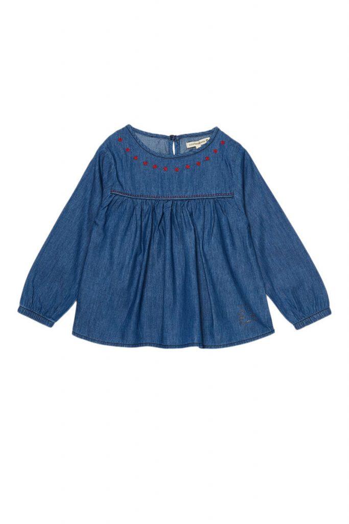 Lulu Castagnette blouse en jean