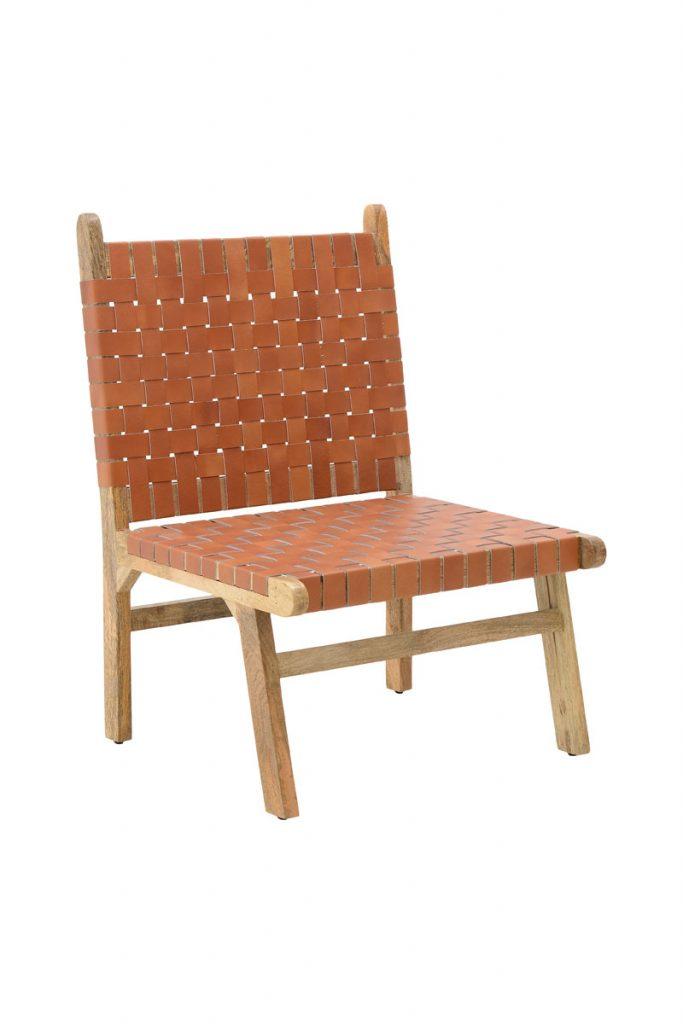 Ma Jolie Déco des Cyclades chaise structuré bois manguier