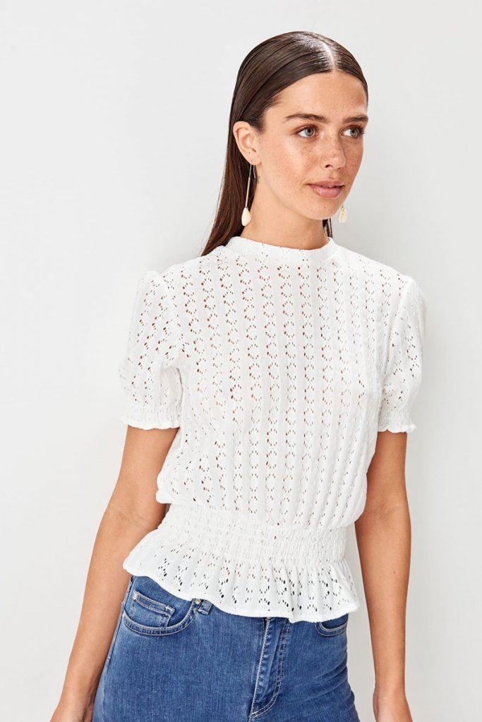 collectionIRL blouse dentelle festonnée